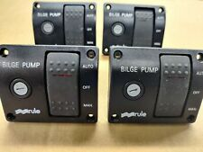 4 x Rule Model 44 24V-32V 10A Bilge Pump 3 Way Lighted Rocker Switch Panel