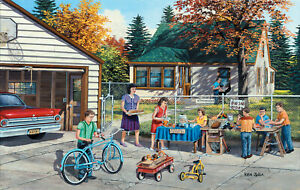BACKYARD SALE by KEN ZYLLA - SunsOut 550 piece puzzle - NEW