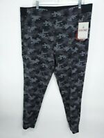 NEW Rhone Mens Gray Camo Tactel Spar Jogger Wicking Stretch Size XXL