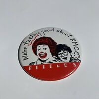 Rare Vintage Ronald McDonald RMCC House Charities Filene's Pin Back Button