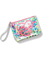 Justice Girl's 'LIVE JUSTICE' Shaky Sequin Wristlet New with Tags
