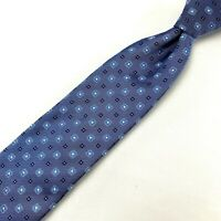 "Canali Men Light Blue Silk Neck Tie 58"" Long 4"" Wide Made in Italy Floral"