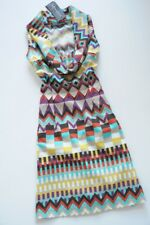RINASCIMENTO argyle multicolor print bodycon tulip dress 10 / M