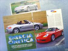 AUTO997-RITAGLIO/CLIPPING/NEWS-1997-PORSCHE BOXSTER - TECHART/F.&P.- 3 fogli