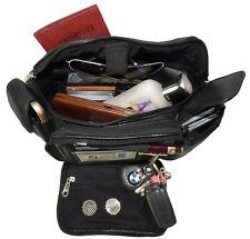 Black Big Delux Phone Leather Fanny Pack Waist Bag Travel Organizer Sac Men Lady