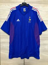 France 2002-2004 Home Football Soccer Adidas Vintage Shirt Jersey Maglia sz 2XL
