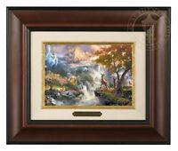 Thomas Kinkade Bambi's First Year Framed Brushwork (Burl Frame)
