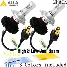 Alla Lighting H4 LED Headlight Conversion Kits Bulbs White Yellow Blue Color DIY