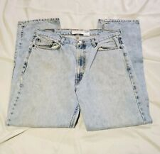 Levis 505 Regular Classic Denim Jeans Straight Leg Mens 38x32 Faded
