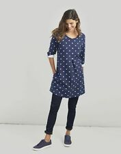 Joules Womens Edith A-Line Tunic - Navy Spot - 10