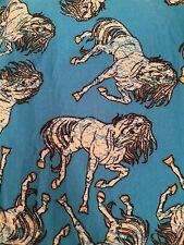 LuLaRoe OS HORSE Leggings Turquoise Blue One Size *UNICORN* FREE SHIPPING