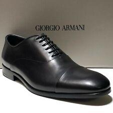 Giorgio ARMANI 11 44 Men's Cap toe Leather Formal Dress Oxford Shoes Casual