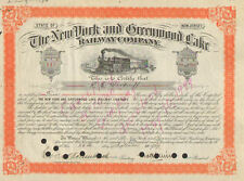 New York and Greenwood Lake Railway Company > 1929 New Jersey stock certificate
