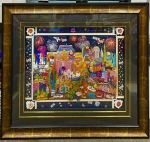 "RARE 3D -1 OF A KIND ""LAS VEGAS LIGHTS"" by ROXY - *Charles Fazzino -Art-Painting"