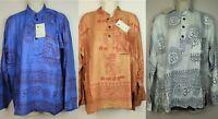 S-4XL Hare Rama Ram Om Hindu Yoga Krishna T Shirt Kurta Top Hippie Meditation