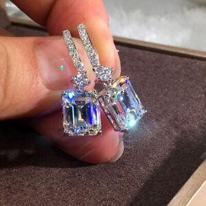 Fashion Women Cubic Zircon Dangle Earrings Crystal CZ Drop Earrings Jewelry Gift