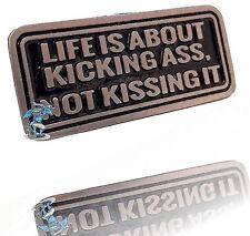 Bikerpin Rocker Weste Kutte Basecap Kicking Ass Chopper USA Arsch  DW0940
