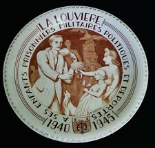 ANCIENNE ASSIETTE DE CHARLES CATTEAU BOCH Fres LA LOUVIERE
