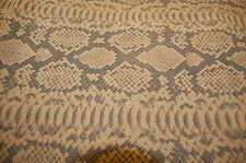 152 sf. 3oz Tan Pig Split Suede Python Snake Print Leather Hide Skin N23LL