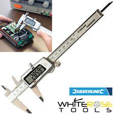 Silverline Digital Vernier Caliper 150mm Internal External Depth Micrometer