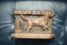 Antique Irish Setter Pointer Hunting Bird Dog 3 Pipe Holder ~ RARE Vintage Cast