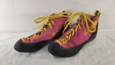 La Sportiva Pink High Top Leather Climbing Shoes Us 7 *read Desc For Sz
