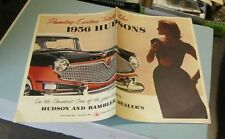 1956 Hudson Automobile Car Brochure Hornet Wasp Rambler Color Photos Advertising