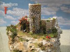 Burgruine Rundturm Falknersberg, Bausatz Spur N / Z Modelleisenbahn menbrf002