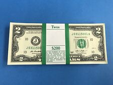 100 New Uncirculated $2 Dollar Bill 2013 Collectible Crisp Brand new