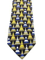 Gucci Mens Tie Necktie Made in Italy 100% Silk Cone Pattern EUC