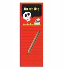 Do or Die Magnetic To-Do List Notepad & Pencil by T Squared