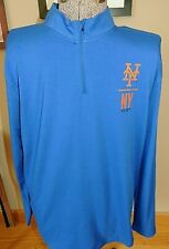 NWT MENS UNDER ARMOUR NEW YORK METS ROYAL BLUE 1/4 ZIP PULLOVER SHIRT JACKET XL