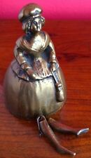 ANTIQUE BRASS CRINOLENE LADY BELL WITH LEGS - RARE!
