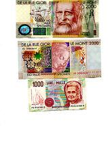 Banconota 1000 lire piu 1 De La Rue Giori Leonardo Da Vinci Le Mont 2000 fds bnc