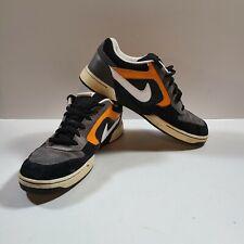 RARE Nike Skeet VTG Skateboarding Shoes Size 12 Mens 324957-016 Blk Orange White