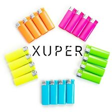 20 Pack Xuper Color Jet Flame Lighters Windproof Adjustable & Butane Refillable