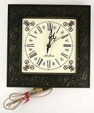Vintage Seth Thomas General Time Corp Electric Clock Grape Vine Frame Dark Green