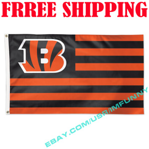 Deluxe Cincinnati Bengals USA Stars Stripes Flag Banner 3x5 ft NFL 2019 Fan Gift
