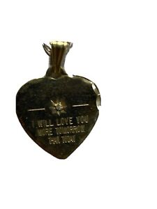 9ct I Will Love You More Tomorrow Than Today Pendant And 16 Inch Chain