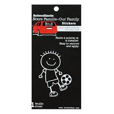 Family Car SOCCER BOY Window Stickers Decals Vinyl Figure Decoration