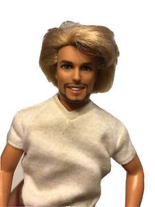1968 Vintage Barbie Ken Rooted Hair lite Beard Goatee Male Blonde -Has Wear