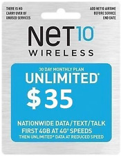 ***AUTHENTIC*** NET 10 Wireless  $35 Refill / TopUp ***FREE & FAST DELIVERY***