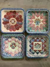 Bradford Exchange Quilt Plates Forever My Daughter Collection Square Lot of 4