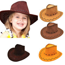 Halloween Style Western Cowgirl Cowboy Hat For Boys Girls Party Costume Cap EB