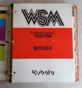 1991 KUBOTA M8580 TRACTOR WORKSHOP SERVICE MANUAL