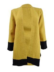 Kasper Women's Colorblocked Open-Front Jacket (XS, Dijon/Black)