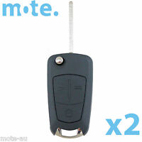 2 x To Suit Holden Captiva Epica Vectra 3 Button Remote Flip Key Shell/Case