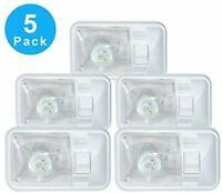 12v LED Dome Light Part Kit Ceiling Fixture Interior RV Trailer Camper 5-Pack