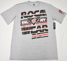 Rocawear T-Shirt Men's 2XB 2X 2XL Hustle Logo Print Graphic Tee Grey Urban N993