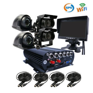 "DIY 1080P GPS WIFI 2TB HDD Car DVR IR Camera 7"" Monitor Realtime Viewon PC Phone"